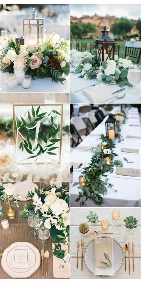 Pantone Color Of The Year 2017 Top 50 Greenery Wedding Greenery For Wedding Centerpieces