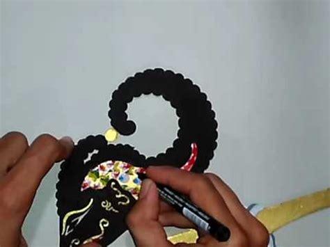 cara membuat lu hias wayang cara membuat wayang lesmana dari kertas karton part15 t