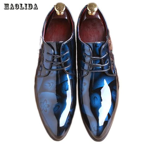 oxford shoes with suit 2017 dress wedding shoes shadow patent leather luxury