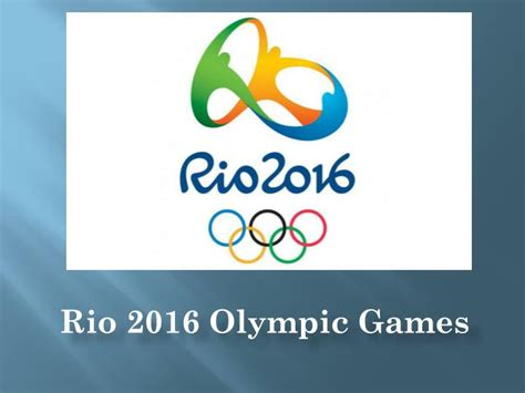 Ppt Rio 2016 Olympic Games Powerpoint Presentation Id Olympic Ppt