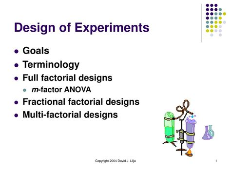 design of experiments powerpoint ppt design of experiments powerpoint presentation id