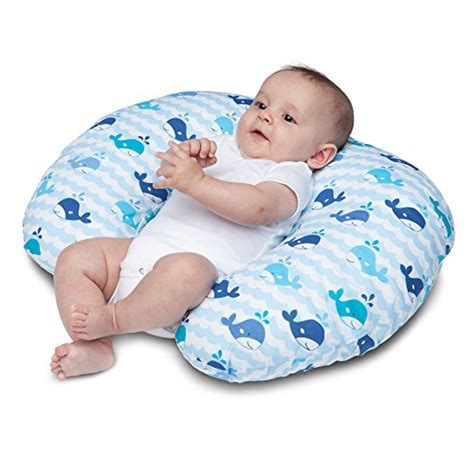 boppy nursing pillow and positioner whale blue 0 12