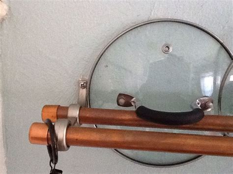 Pot Hanging Rod Pot Lid Rack Made With Drapery Rod Hanger And