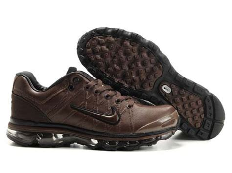 nike air max 2009 mens shoes leather brown nike running