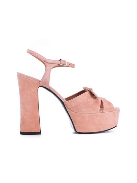 pink sandals with bow laurent 80 bow sandals in pink lyst