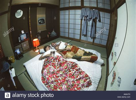Sleeping On A Japanese Futon by Sleeping On Futon In Typical Japanese Home Or