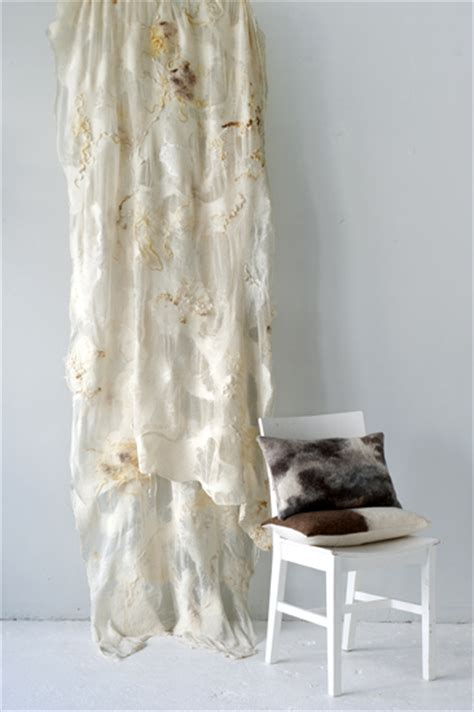 wool felt curtains home collection couture curtains the soft world