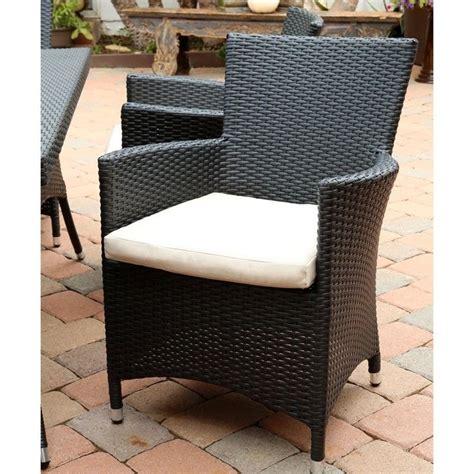 Patio Furniture Pasadena Abbyson Living Pasadena 7 Wicker Patio Dining Set In Black Dl Rd027 7pc