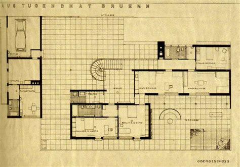 villa tugendhat floor plan ground floor plan villa tugendhat ludwig mies van der