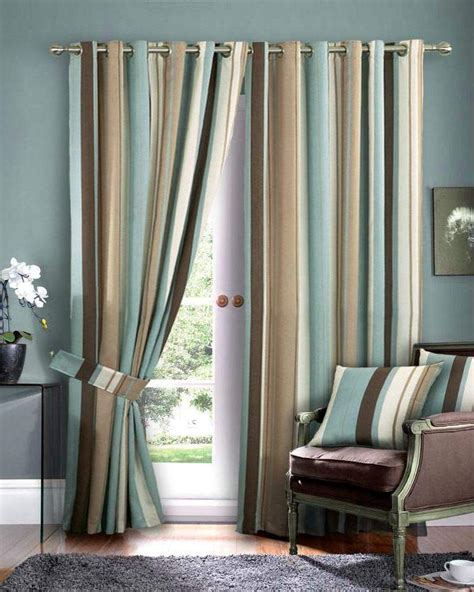 living room curtains and drapes beautiful blue and brown curtains curtain pinterest