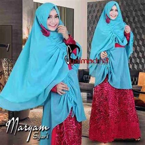 Aisyah Azzahra Syari Mint Baju Muslim baju gamis syari terbaru pesta jersey baju pesta muslim