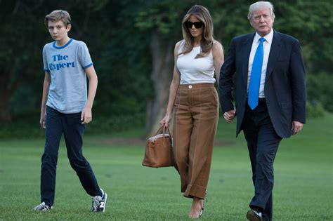 barron trump melania barron trump finally move into the white house
