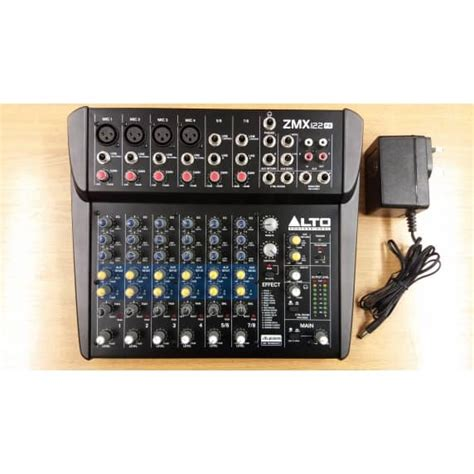 Mixer Alto Zmx 124 alto zmx 122fx 8 channel fx mixer no box b stock