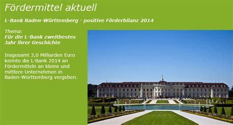 l bank elterngeld baden württemberg l bank baden w 252 rttemberg positive f 246 rderbilanz 2014