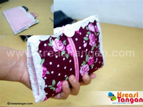 cara membuat kerajinan jahit perca membuat dompet hp dari kain perca kreasi tangan