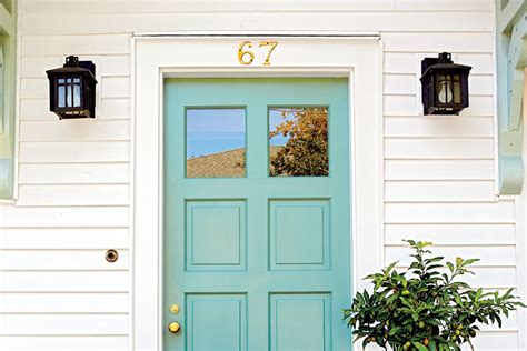 Light Blue Front Door In Between Blue Green 13 Bold Colors For Your Front Door Southern Living