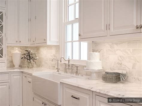 marble tile kitchen backsplash kitchen carrara marble beveled white subway tile