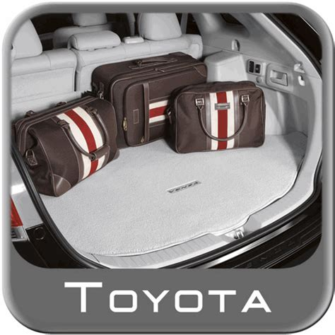 2009 2015 toyota venza cargo mat carpeted w logo light gray