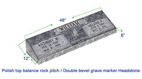 Mb20 Flat Double Bevel Grave Marker Headstone 48 Quot X12 Quot X6 Quot P1swn Grave Marker Template