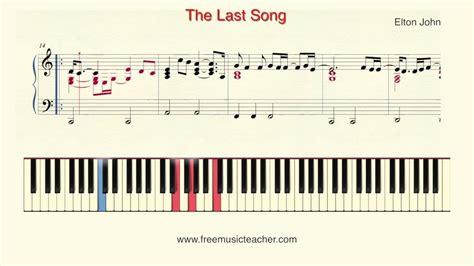 Tutorial Piano Elton John | how to play piano elton john quot the last song quot piano