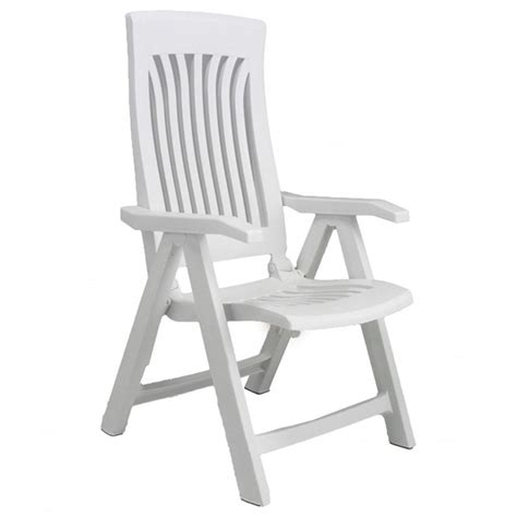 nardi flora recliner white resin garden chair internet