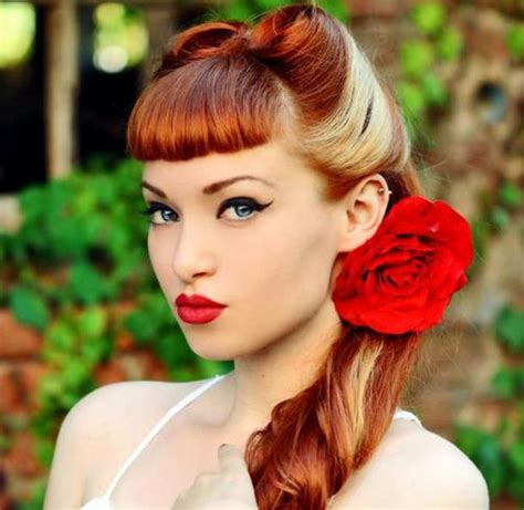 Classic Pin Up Hairstyles by Amazing Vintage Up Do Hairstyle For Hairstyle For