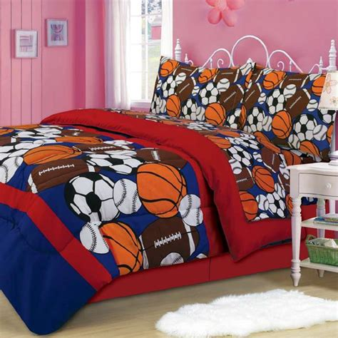 full size sports bedding sporty mini bed in a bag set