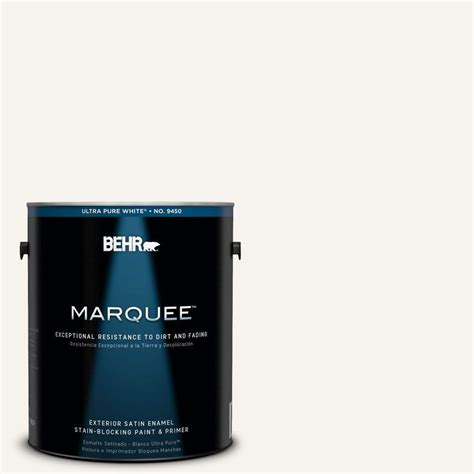 behr marquee 1 gal 75 polar satin enamel exterior paint 945001 the home depot