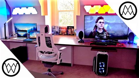 Gaming Paradise 2 0 Desk Setup Tour 2017 Youtube Paradise Gaming Desk