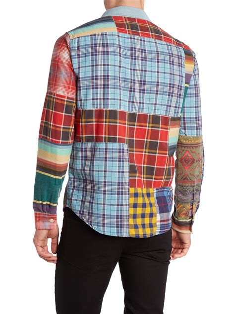 Patchwork Shirts - denim supply ralph sleeve check placket