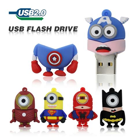 Flashdisk Unik Minnion Avenger 8gb minion flash drive free shipping worldwide