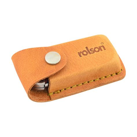 knife pouch rolson 62844 folding lock back utility knife with leather