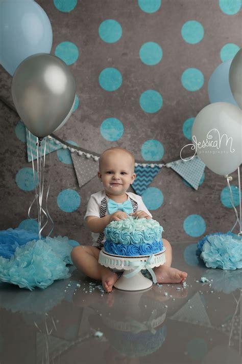 grey  blue  birthday cake smash session  boys  birthday pictures smash cake po