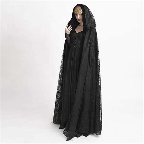pattern for black cape gothic black hooded lace cape for women cardigan oversized