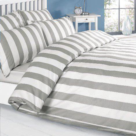 Grey White Stripe Bedding Range Duvet Set Or Cushion Or Bedspread Ebay Louisiana Vertical Grey White Stripe Quilt Duvet Cover Set Beachfront Decor