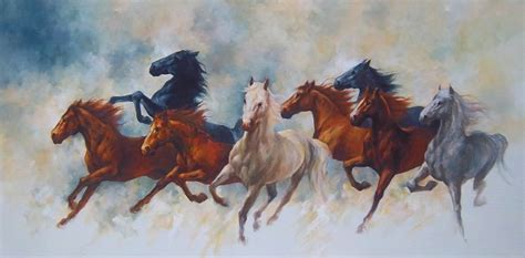 wallpaper lukisan bagus my favorite artis kumpulan gambar kuda putih coklat dan