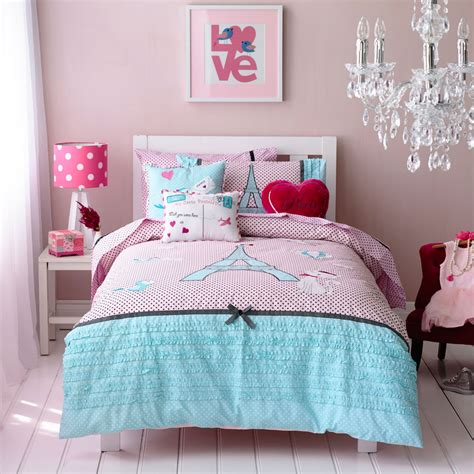 bedroom covers kids bed sheets pretty paris home decor girls room