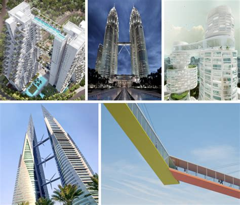 Cantilevered Deck by Sky Bridges 14 Aerial Structures That Span Skyscrapers