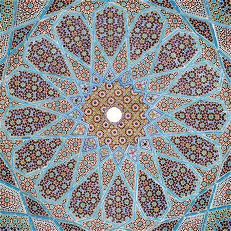 design pattern description emphasis on geometric textile design in a cultural