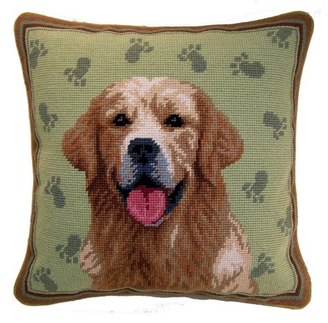 golden retriever needlepoint needlepoint pillows golden retriever