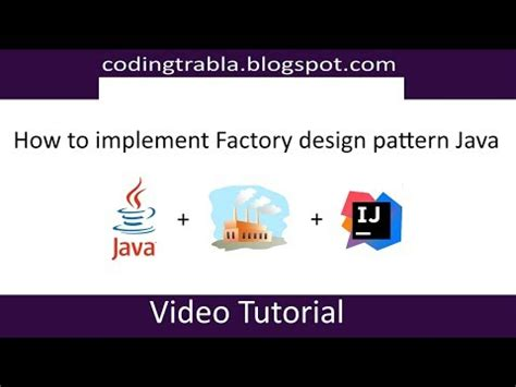 factory design pattern in java youtube how to implement factory design pattern in java youtube