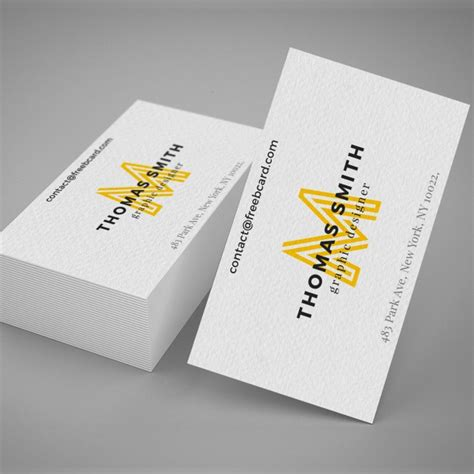realistic business card mockup psd file free