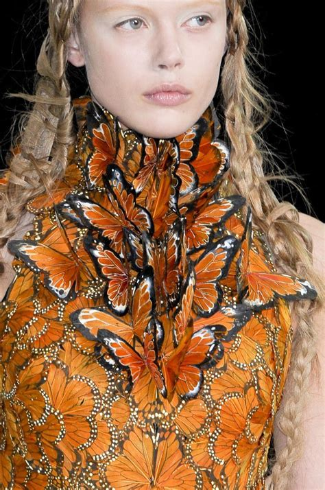 Mcqueen Butterfly Gown by Mcqueen At Fashion Week 2011