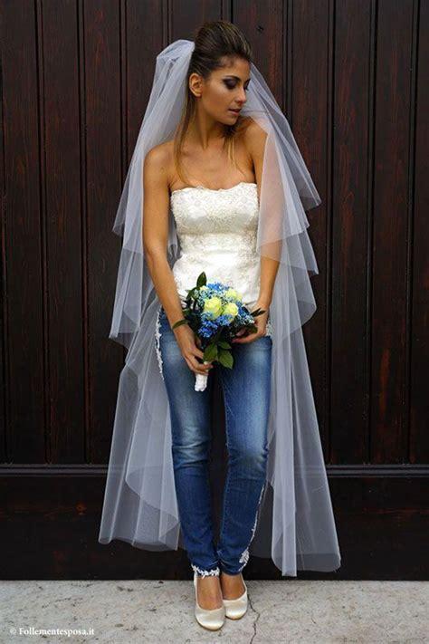 bride  jeans denim wedding