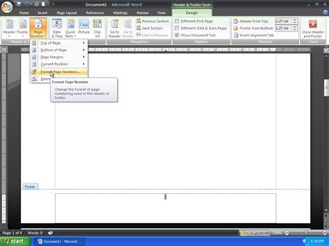 membuat nomor halaman romawi cara membuat nomor halaman yang berbeda pada microsoft