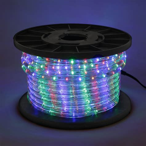 multi color rgb 100 led rope 110v 2 wire flexible diy