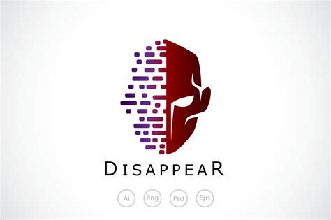 disappear face mask logo template creative logo