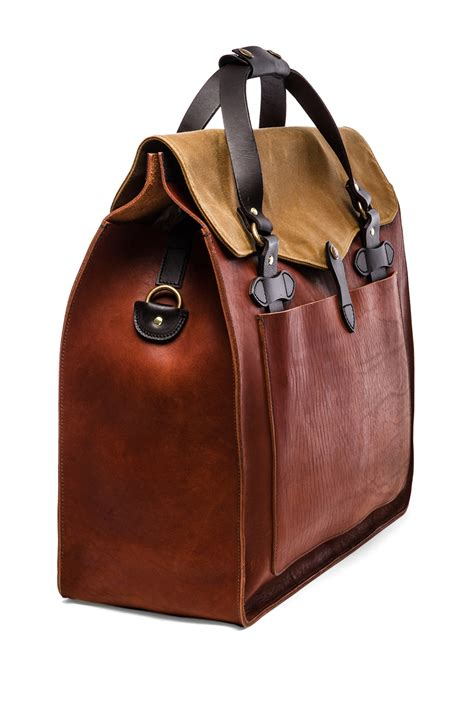 Robur Bag S 13 filson large leather tote in brown for lyst