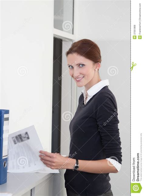 Background Check Documents Clerk Checks Documents Royalty Free Stock Photos Image 27051868
