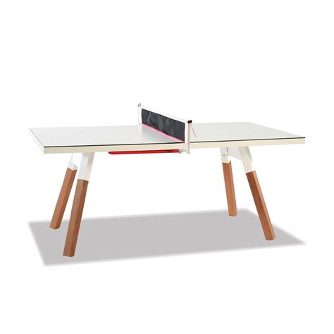 Small Outdoor Ping Pong Table In White Thos Baker